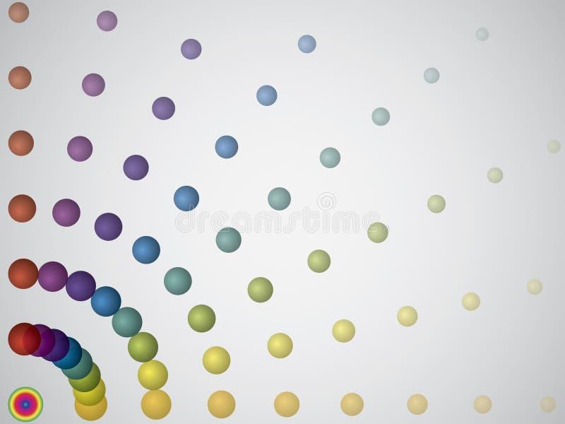 Puntini di circonduzione del Rainbow illustrazione vettoriale