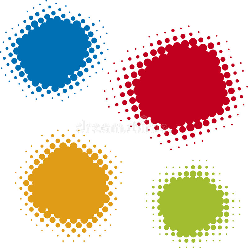 Puntini di derivazione (vettore) illustrazione vettoriale