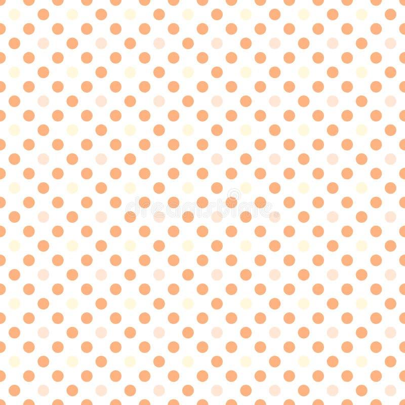 Puntini di Polka arancioni royalty illustrazione gratis