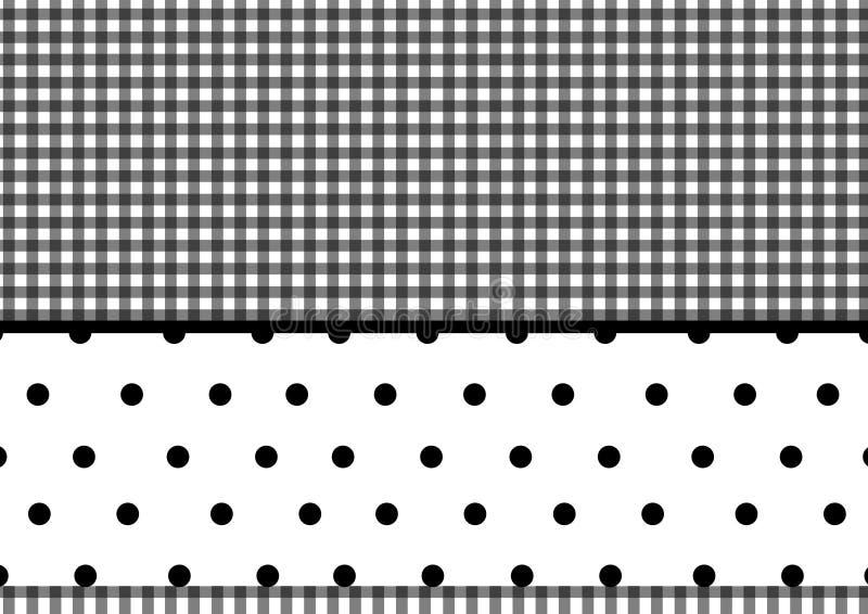 Puntini di Polka del plaid illustrazione vettoriale
