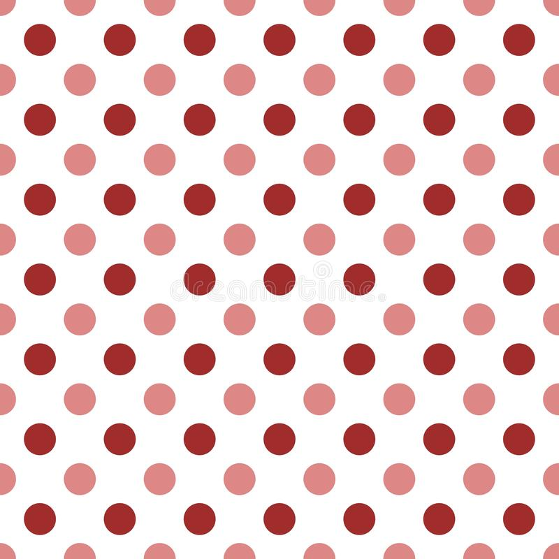 Puntini di Polka rossi illustrazione di stock