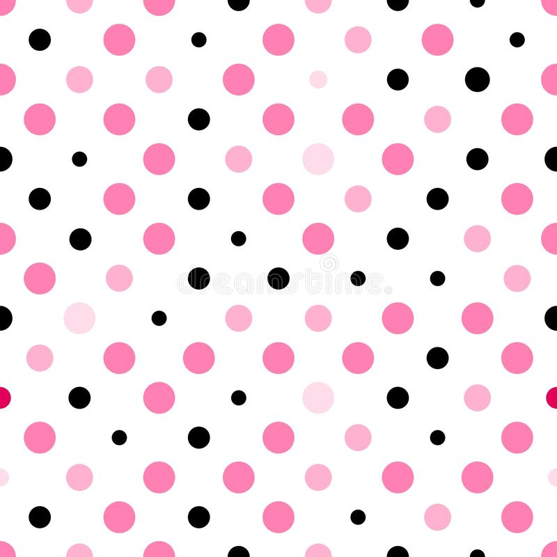 Puntini di Polka senza giunte illustrazione di stock