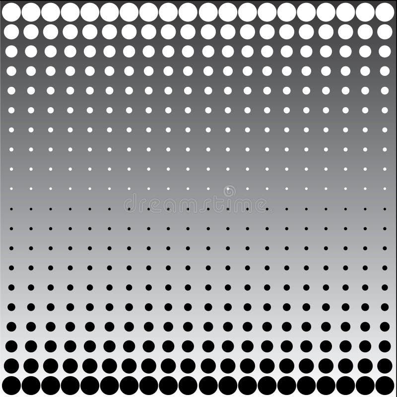 Puntini di semitono bianchi neri illustrazione vettoriale
