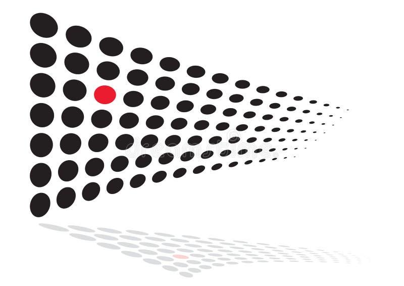Puntino rosso unico illustrazione di stock
