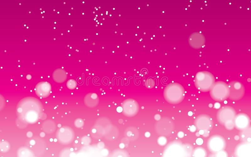 Punto abstracto rosado con vector geométrico del fondo del bokeh stock de ilustración