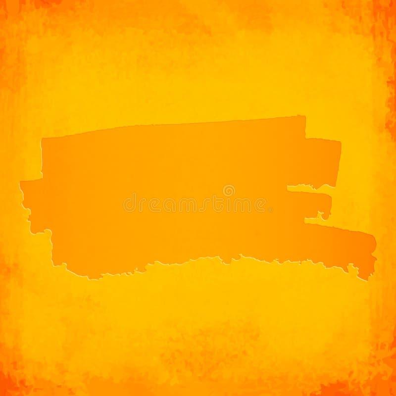 Punto anaranjado del cepillo del vector en fondo del grunge ilustración del vector