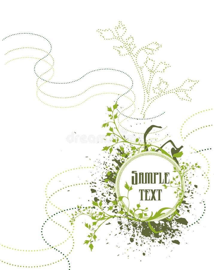 punto astratto del fiore illustrazione vettoriale
