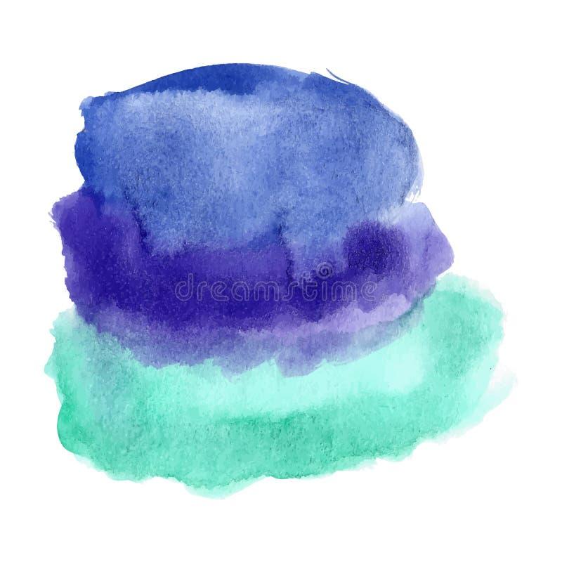 Punto azul de la acuarela de la turquesa libre illustration