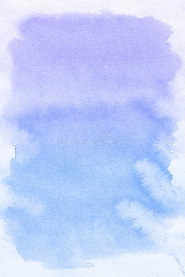 Punto azul, fondo abstracto de la acuarela ilustración del vector