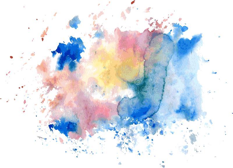 Punto brillante de la acuarela colorida Aislado Vector libre illustration