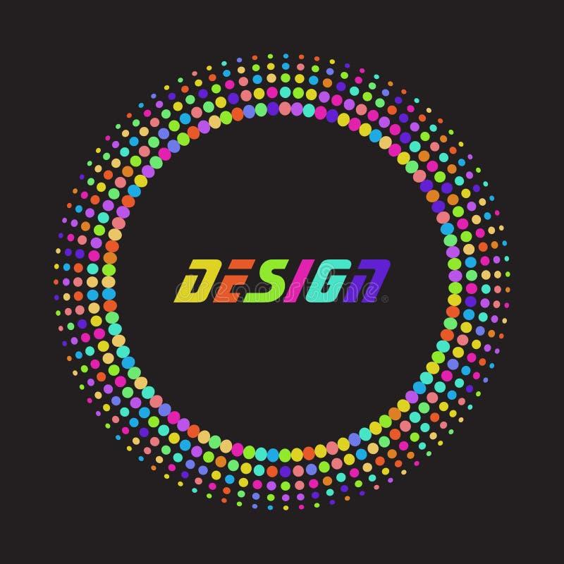 Punto colorido del tono medio del extracto del arco iris stock de ilustración
