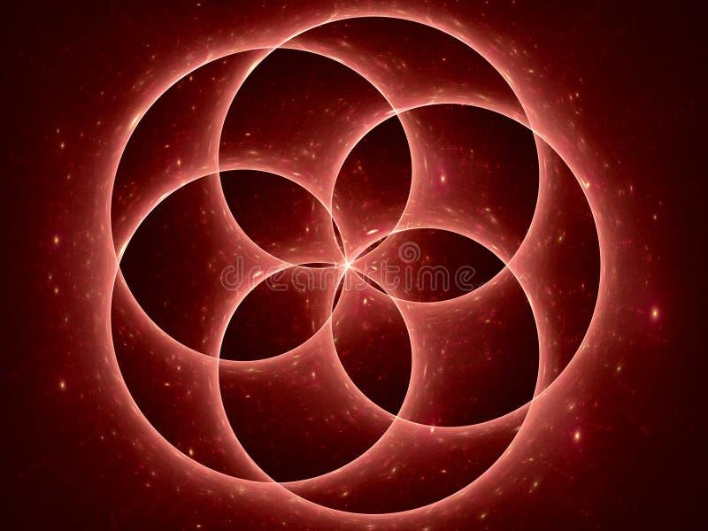 Punto d'irradiazione della stella illustrazione vettoriale