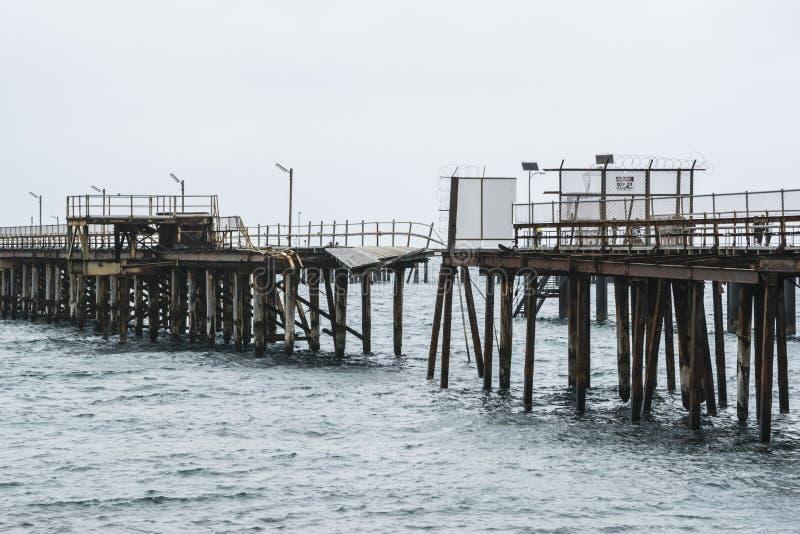 Punto de desempate - embarcadero rápido viejo de la bahía, SA fotografía de archivo libre de regalías