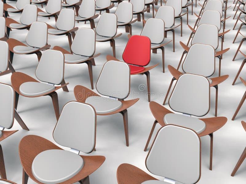 Punto de la blanco de la conferencia en audiencia stock de ilustración