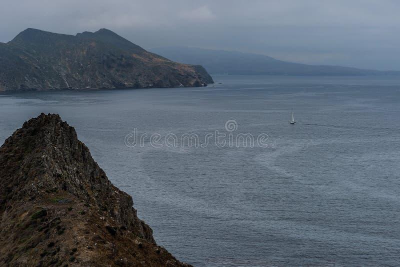 Punto de la inspiración en parque nacional de la isla de Anacapa, Islas del Canal fotografía de archivo libre de regalías