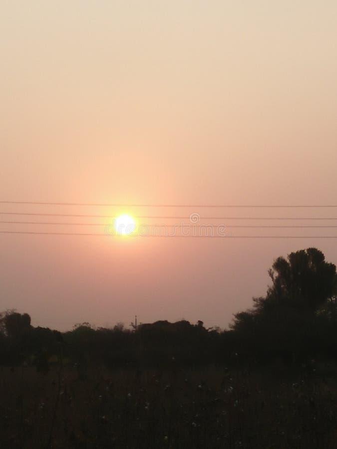 Punto de la puesta del sol fotos de archivo libres de regalías