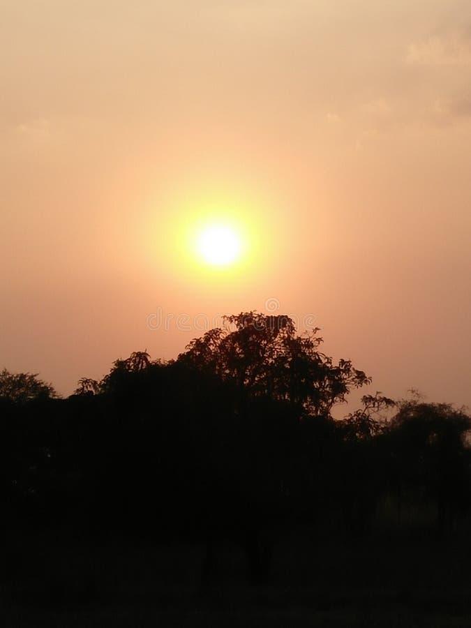Punto de la puesta del sol imagen de archivo