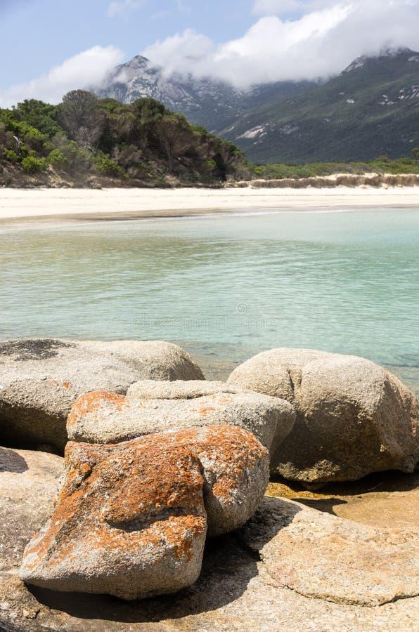 Punto de los pantalones, isla del Flinders, Tasmania, Australia fotografía de archivo libre de regalías