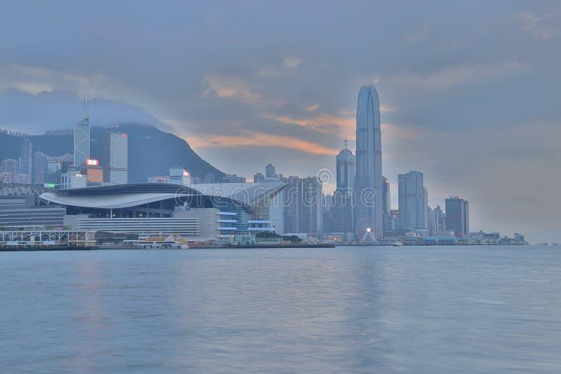 punto de opinión del destino para observar a Victoria Harbour, HK imagenes de archivo
