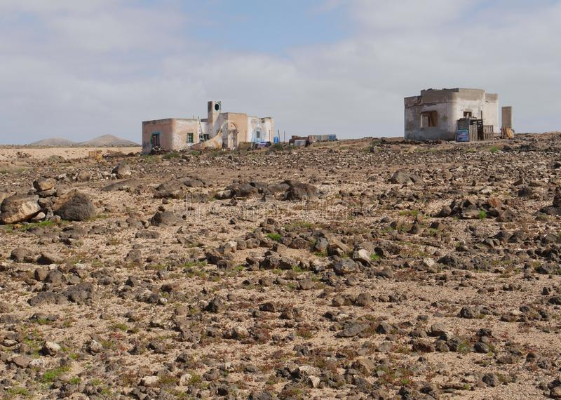 Punto De Paso Chico na wyspie Fuerteventura obrazy stock
