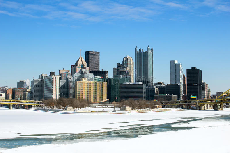 Punto de Pittsburgh del invierno imagen de archivo libre de regalías