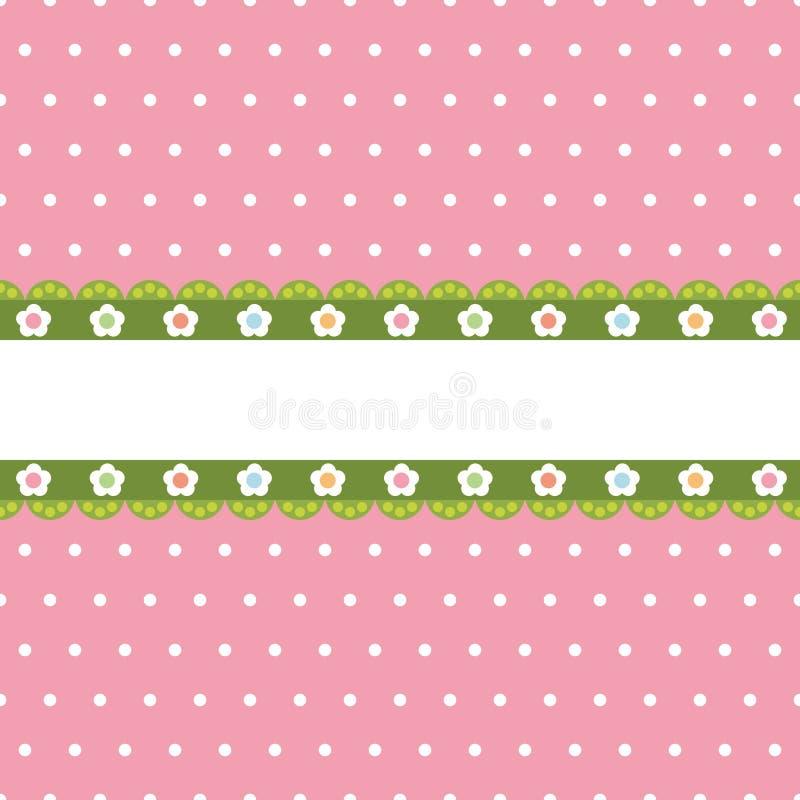 Punto de polca rosado con la bandera libre illustration