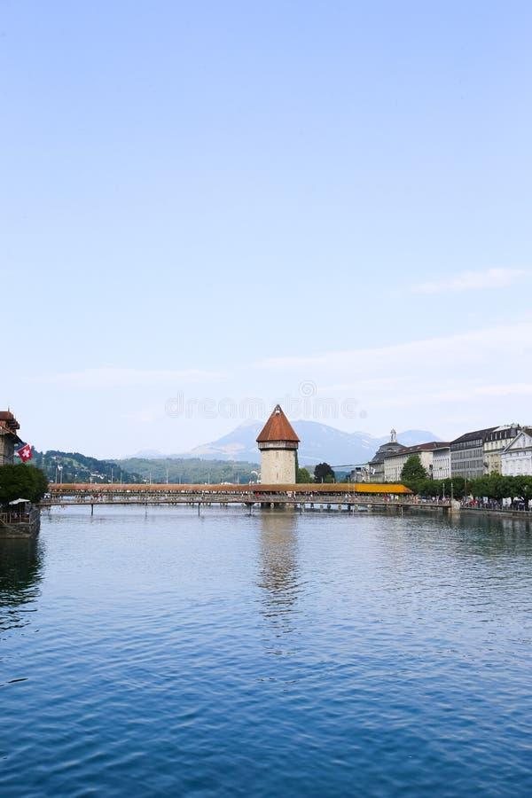 Punto de visita turístico de excursión en Lucerna imagen de archivo