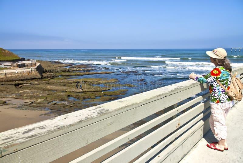 Punto de vista al mar Loma California. imagenes de archivo