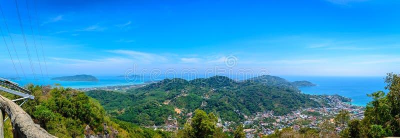 Punto de vista del panorama de la ciudad de Phuket, provincia de Phuket imágenes de archivo libres de regalías
