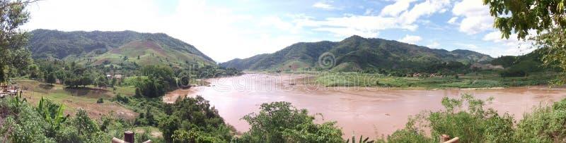 Punto de vista del río Mekong, Wiang Kean District, Chiang Rai, Tailandia foto de archivo libre de regalías
