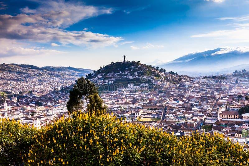 Punto de vista en San Juan, Quito fotografía de archivo