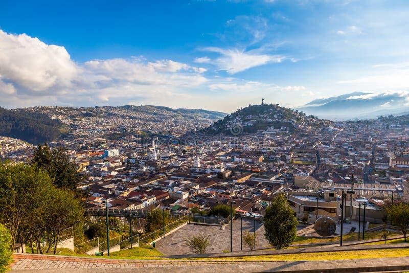 Punto de vista en San Juan, Quito foto de archivo libre de regalías