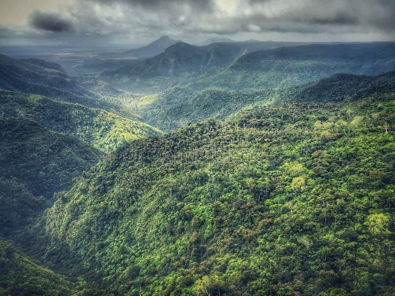Punto de vista negro del parque nacional de las gargantas del río fotos de archivo libres de regalías