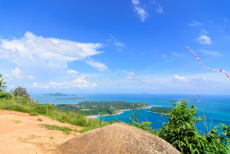 Punto de vista negro de la roca en Phuket Tailandia imagen de archivo libre de regalías