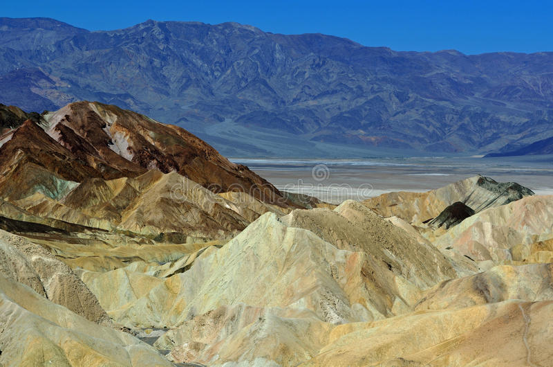 Punto de Zabriske, parque nacional de Death Valley, California, los E.E.U.U. imágenes de archivo libres de regalías