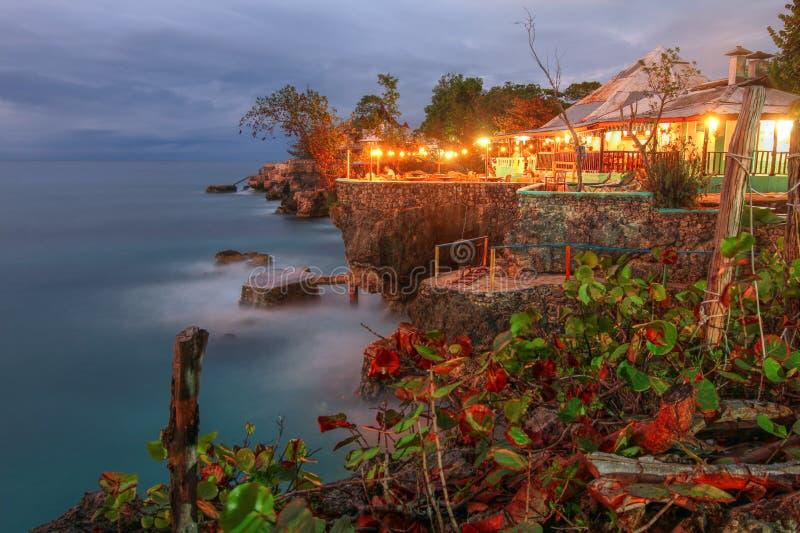 Punto de 3 zambullidas, Negril, Jamaica foto de archivo libre de regalías