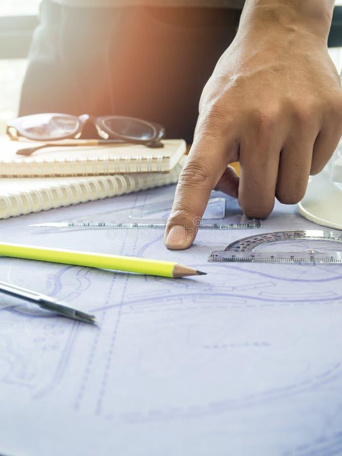 Punto del arquitecto en el modelo imagen de archivo