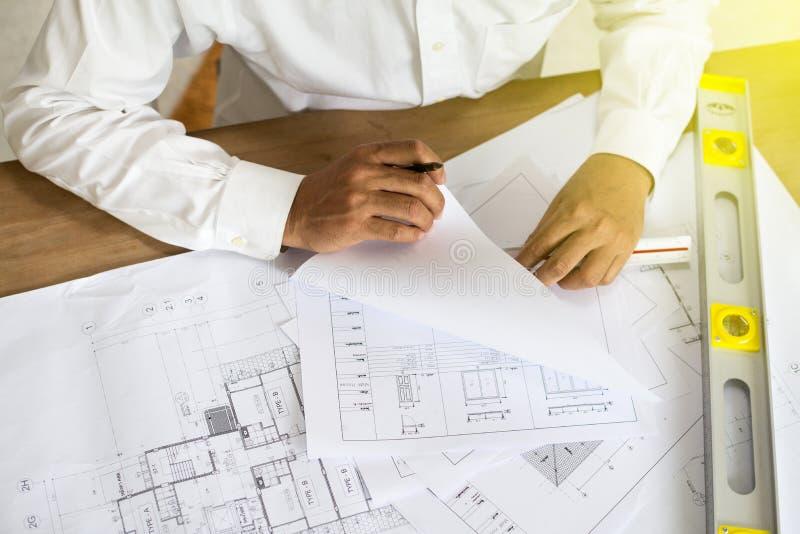 Punto del arquitecto en el modelo imagen de archivo libre de regalías