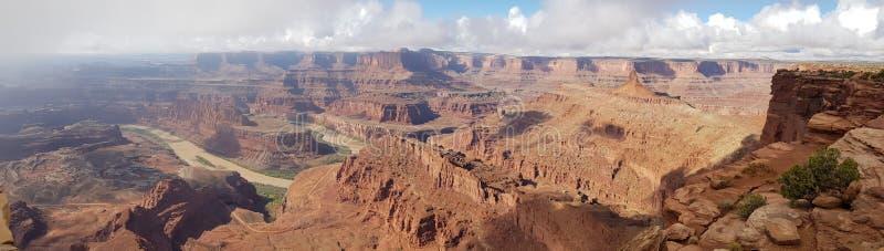 Punto del cavallo morto ed il fiume Colorado fotografia stock libera da diritti