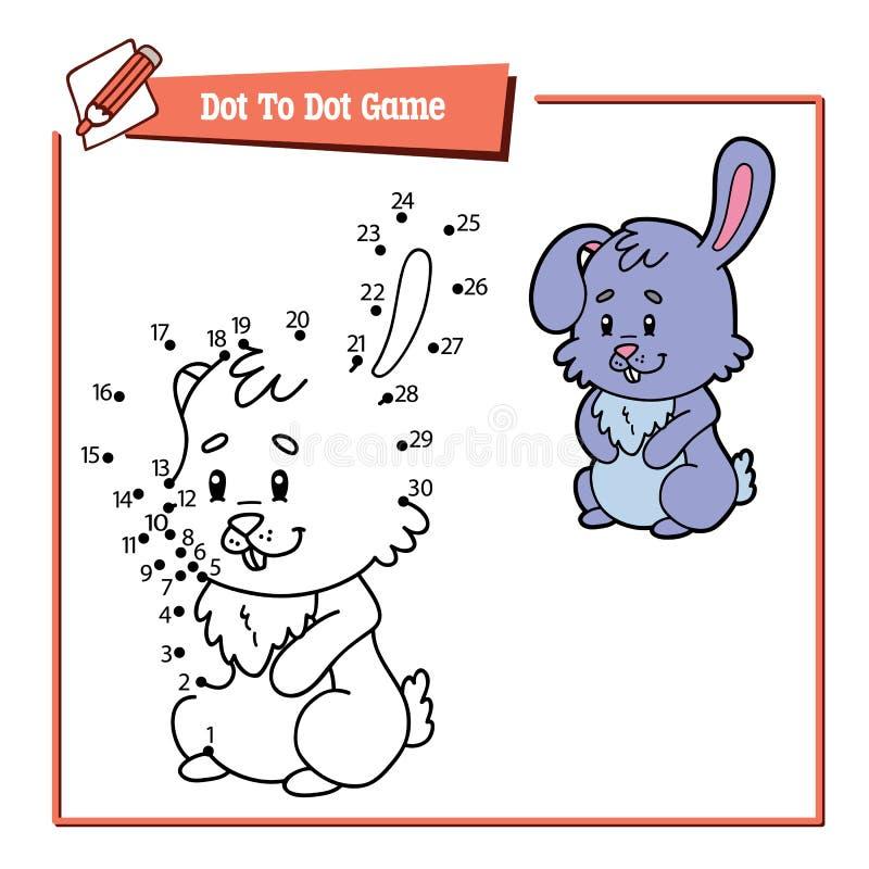 Punto del coniglio da punteggiare royalty illustrazione gratis