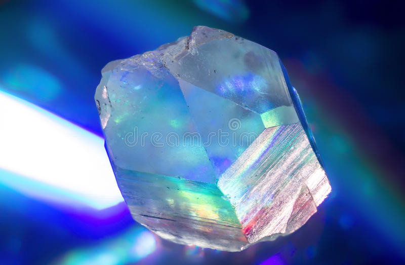 Punto del cristallo di quarzo fotografia stock