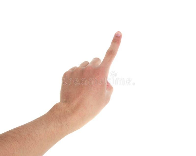 Punto del finger imagen de archivo