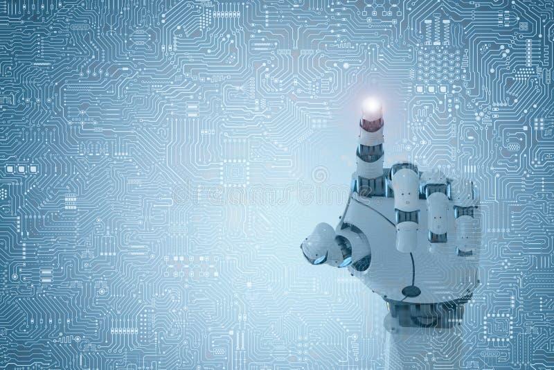 Punto del finger del robot ilustración del vector