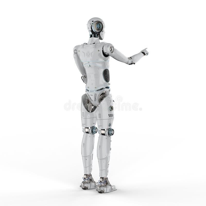 Punto del finger del robot stock de ilustración