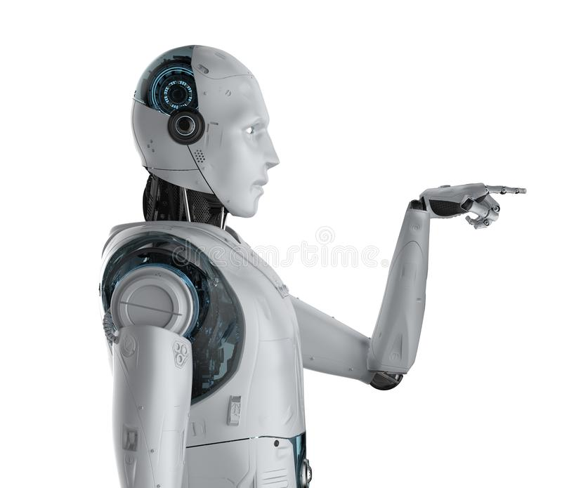Punto del finger del robot libre illustration