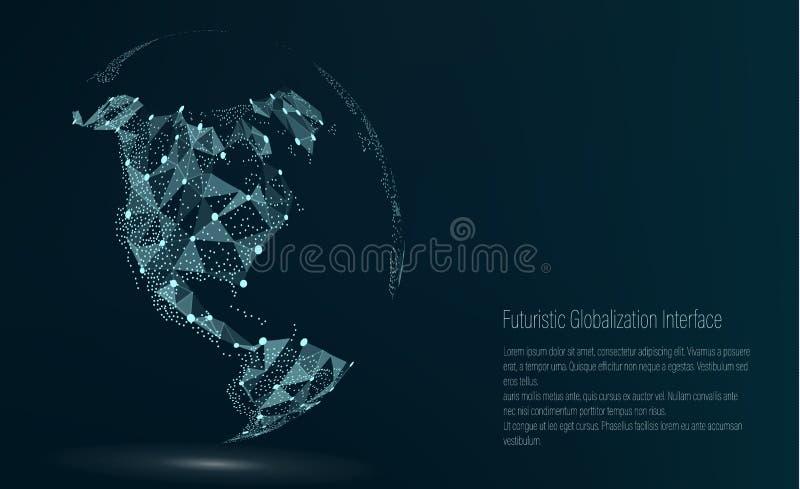 Punto del mapa del mundo Correspondencias de imágenes de la NASA Ilustración del vector Composición, representando la conexión de libre illustration