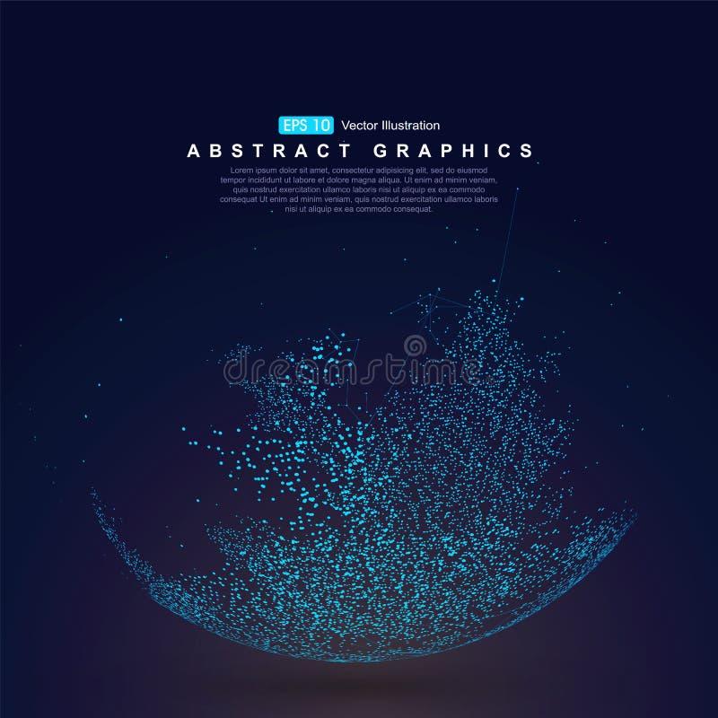 Punto del mapa del mundo, representando la conexión de red global, global, significado internacional ilustración del vector