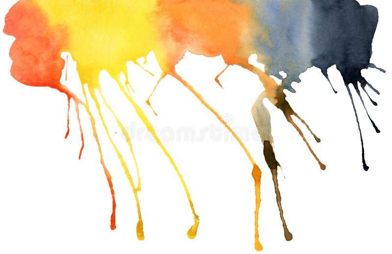Punto dell'acquerello, isolato su un fondo bianco royalty illustrazione gratis