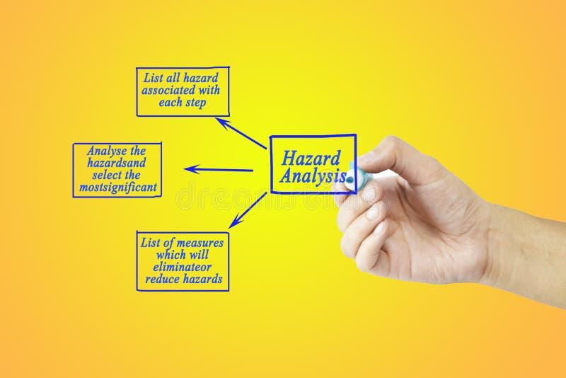 Punto dell'albero di scrittura della mano delle donne del concetto di analisi dei rischi per uso nella fabbricazione fotografia stock