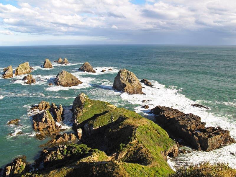 Punto della pepita - Nuova Zelanda fotografia stock libera da diritti